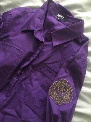 DKNY Chemise à manches longues violet foncé