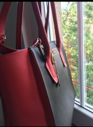 DKNY Carry Bag black-dark red leather