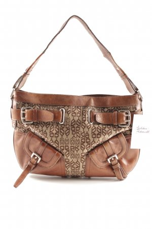 DKNY Carry Bag brown-light brown monogram pattern casual look