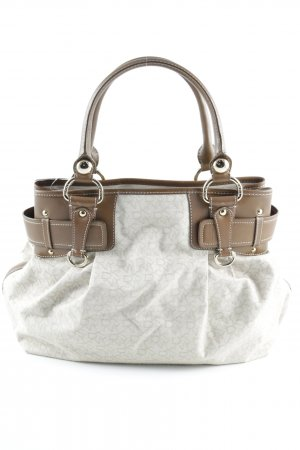 DKNY Carry Bag cream-cognac-coloured embroidered lettering business style