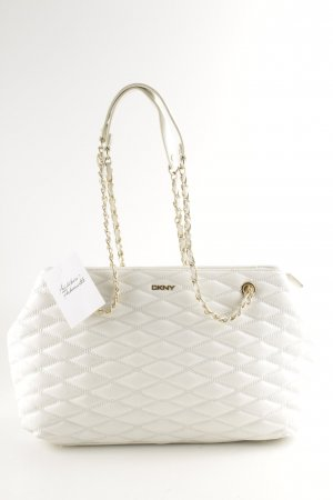 "DKNY Borsa con manico ""Gansevoort Quilted Shoulder Bag White"" bianco"