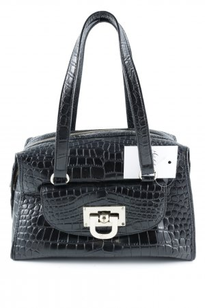 DKNY Henkeltasche schwarz Animalmuster Business-Look