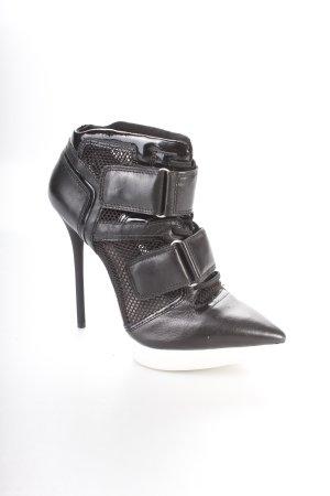 DKNY High Heels schwarz-weiß extravaganter Stil