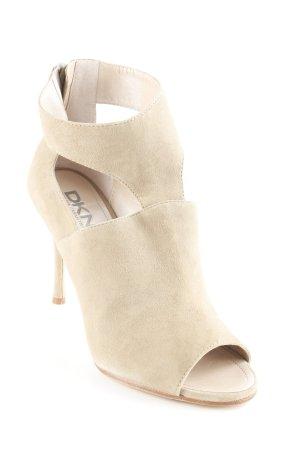 DKNY Chaussure à talons carrés beige style simple