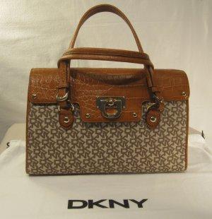DKNY in beige / cognac