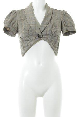 DKNY Jeans Bolero marrone-grigio motivo a quadri stile professionale