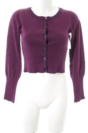 DKNY Jeans Bolero purpur Glitzer-Optik