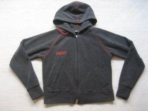 dkny jeans fleecejacke top zustang grau gr. s hoodie