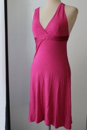 DKNY Jeans Gr. XS Gr. 34 pink Sommerkleid Seidenanteil