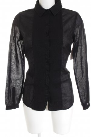 DKNY Jeans Hemd-Bluse schwarz Business-Look