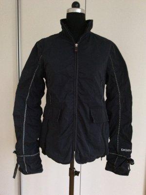 DKNY Jeans* Jacke schwarz* Borte Reflektorstreifen* Geraffter washed Look* Gr.M
