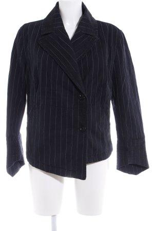 DKNY Jeans Kurz-Blazer dunkelblau Nadelstreifen Casual-Look