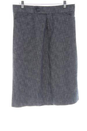 DKNY Jeans Midirock hellgrau meliert Business-Look