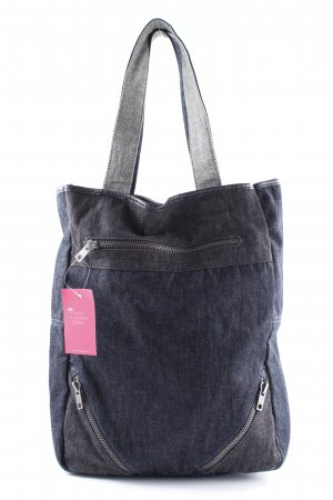DKNY Jeans Shopper blau Logostickerei