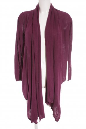 DKNY Jeans Strickjacke brombeerrot extravaganter Stil