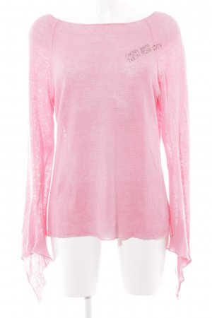 DKNY Jeans Strickpullover rosa Casual-Look