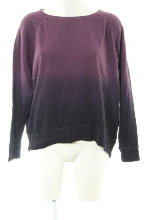 DKNY Jeans Sweatshirt lila-schwarz Farbverlauf Casual-Look