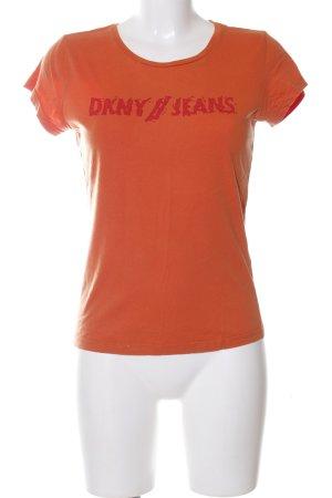 DKNY Jeans T-Shirt hellorange Casual-Look