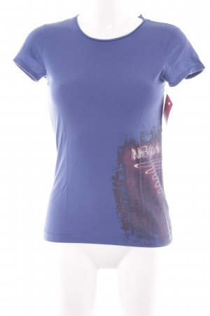 DKNY Jeans T-shirt blu stampa stile casual