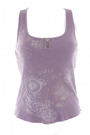 DKNY Jeans Strappy Top grey lilac abstract print beach look