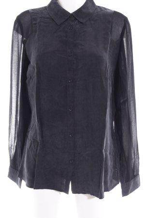 DKNY Jeans Transparenz-Bluse schwarz Casual-Look