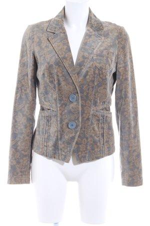 DKNY Jeans Tweedblazer camel-grau Blumenmuster Elegant