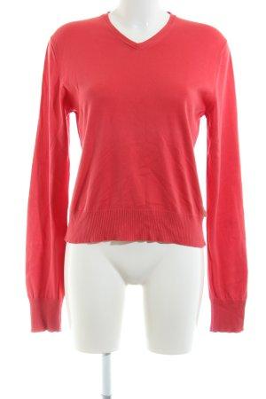 DKNY Jeans V-Ausschnitt-Pullover rot Casual-Look