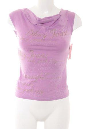DKNY Jeans Wasserfallshirt rosa Schriftzug gedruckt Casual-Look