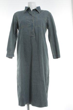 DKNY Jeanskleid kornblumenblau-hellbeige klassischer Stil