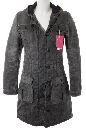 DKNY Hooded Coat dark grey color gradient casual look
