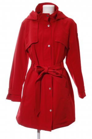 DKNY Hooded Coat red casual look