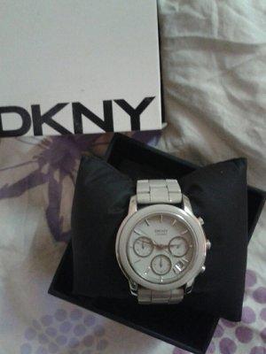 DKNY Keramik Uhr in grau/silber