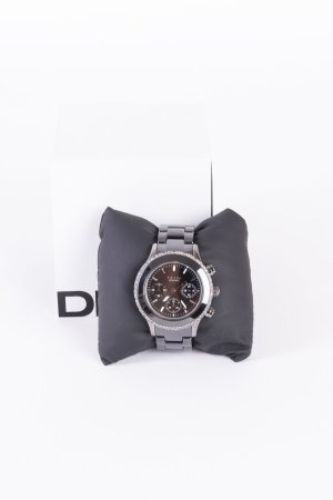 DKNY - Keramikarmbanduhr mit Strassbesatz Metallic-Schwarz NEU