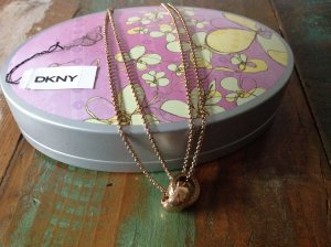 DKNY Necklace nude-gold orange stainless steel