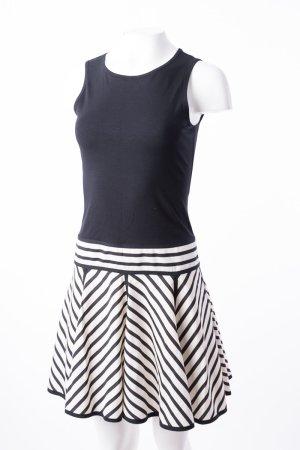 DKNY - Kleid mit gestreiftem Rock Schwarz-Weiß