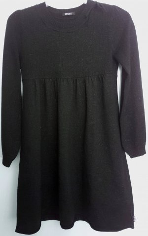 DKNY Kleid, Strickkleid, Feinstrick, schwarz