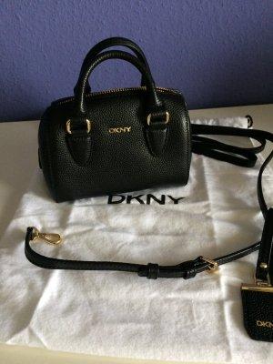DKNY Kleine Lederhandtasche schwarz