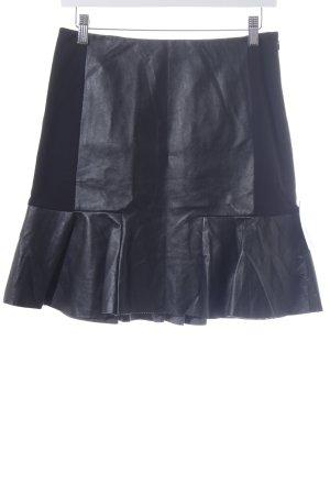 DKNY Rok van imitatieleder zwart Biker-look