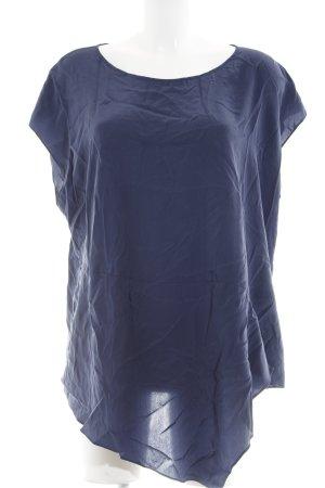 DKNY Kurzarm-Bluse dunkelblau Casual-Look
