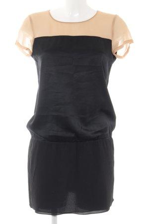 DKNY Kurzarmkleid schwarz-nude Elegant