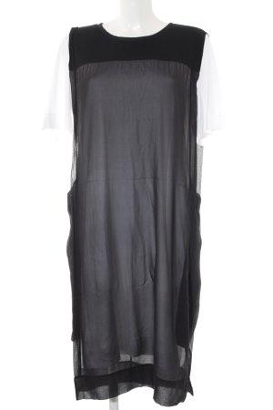 DKNY Kurzarmkleid weiß-schwarz Casual-Look