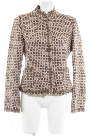 DKNY Kurzjacke beige-rosé grafisches Muster Casual-Look