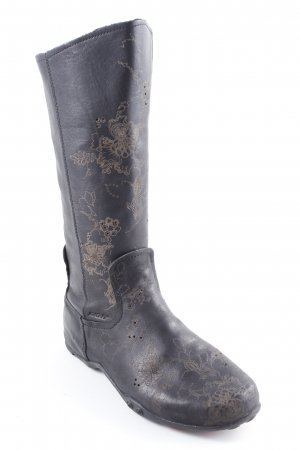 DKNY Short Boots black-beige floral pattern casual look