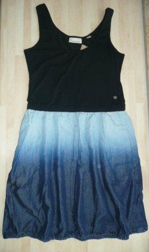 DKNY lässiges Kleid Materialmix aus Stretchtop + Jeansrock Gr 36