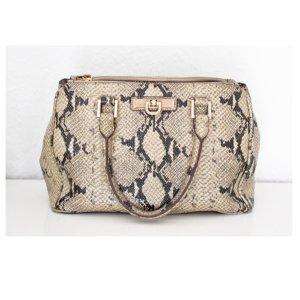 DKNY Leder Handtasche im SchlangOptik Tasche Damentasche