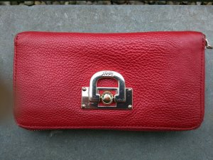 DKNY Portefeuille rouge fluo cuir