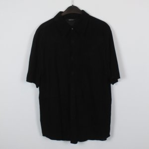 DKNY Leren shirt zwart