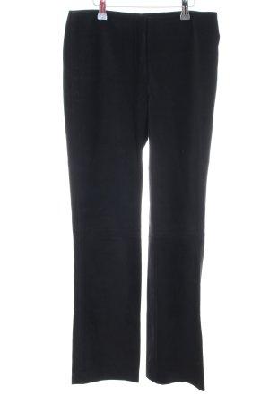DKNY Pantalone in pelle nero stile professionale