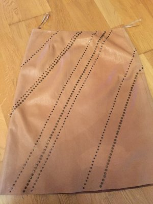 DKNY Leather Skirt beige leather
