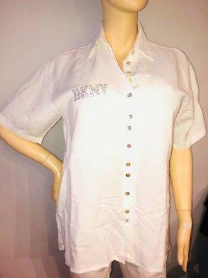 DKNY Leinen Bluse Hemd in gr 38 Farbe Weiss